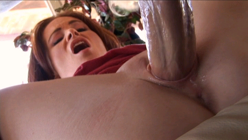 Huge cock pounding tight pussy