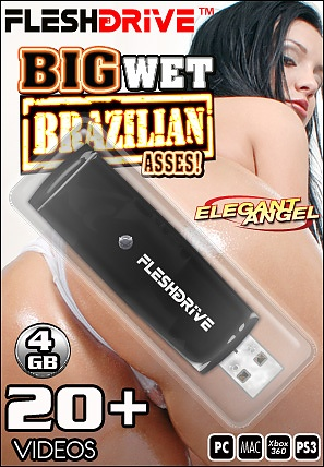 20+ Big Wet Brazillian Asses on 4gb usb FLESHDRIVE