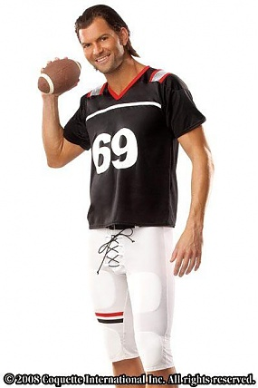 Football Player Black/white L/x