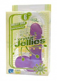 Crystal Jellie Ballsy Cock 6? W/ Suction Cup Base Purple (110554)