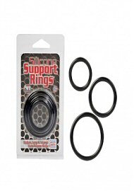 Silicone Support Rings - Black (114801)