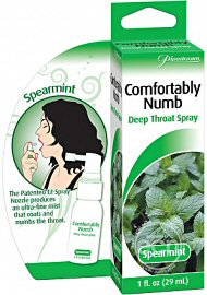 Comfortably Numb Deep Throat Spray Spearmint 1 Ounce (120064.3)
