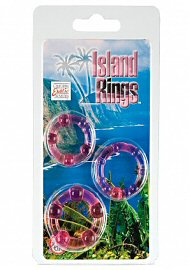 Silicone Island Rings - Pink (135711)
