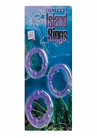 Silicone Island Rings - Purple (135712)