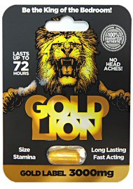 Gold Lion Erection Pill - Gold Label 3000mg Capsule (140910.922)