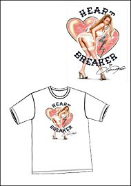 Apparel - White Heart Breaker Tee  - (large) (67272)