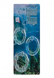 Silicone Island Rings - Clear (77096)