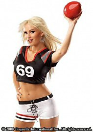 Female Football Player Blk/wht Os (85522)