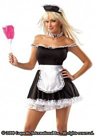 Frisky French Maid Blk/wht Os (85528)