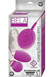 Bela Silicone Dual Vibrating Bullets Waterproof Pink (86959.5)