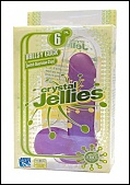 Crystal Jellie Ballsy Cock 6? W/ Suction Cup Base Purple (110554.6)
