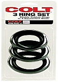 Colt 3 Cock Ring Set Rubber Black - Large (113536.8)