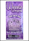 Weenie Wrapper- Dual Cock Ring - Clear (74378.9)