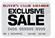 Members Only Exclusive Sales